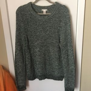 H&M green/white marbled slouchy knit sweater sz L
